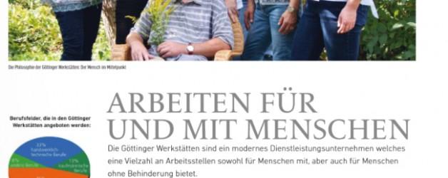 """Bericht im Charakter """"Arbeiten für und mit Menschen"""""""