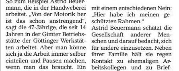 Mündener Rundschau, 29.06.2016: Göttinger Werkstätten gewähren Einblicke
